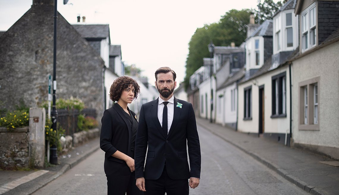 Cush Jumbo and David Tennant star in Deadwater Fell