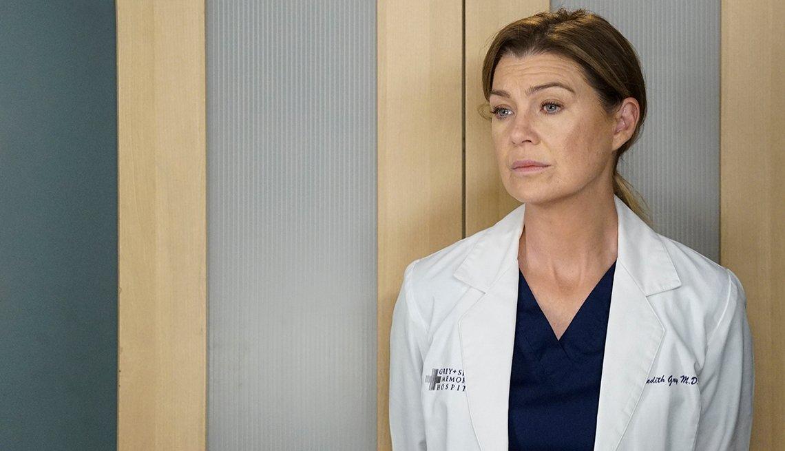 Ellen Pompeo en una escena de la serie Greys Anatomy