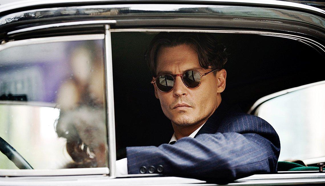 Johnny Depp en una escena de la película Public Enemies