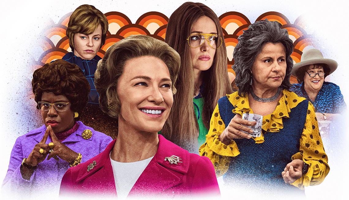 Imágenes de los personajes del show Mrs America