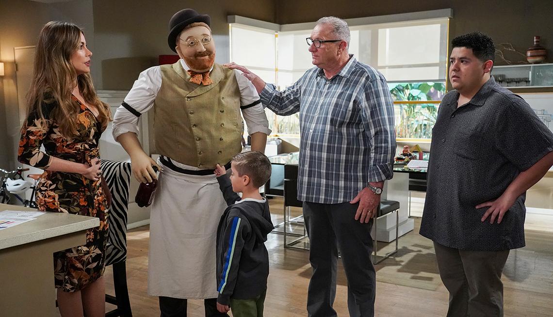 Sofía Vergara, Ed O Neill y Rico Rodriguez en el último episodio del show Modern Family