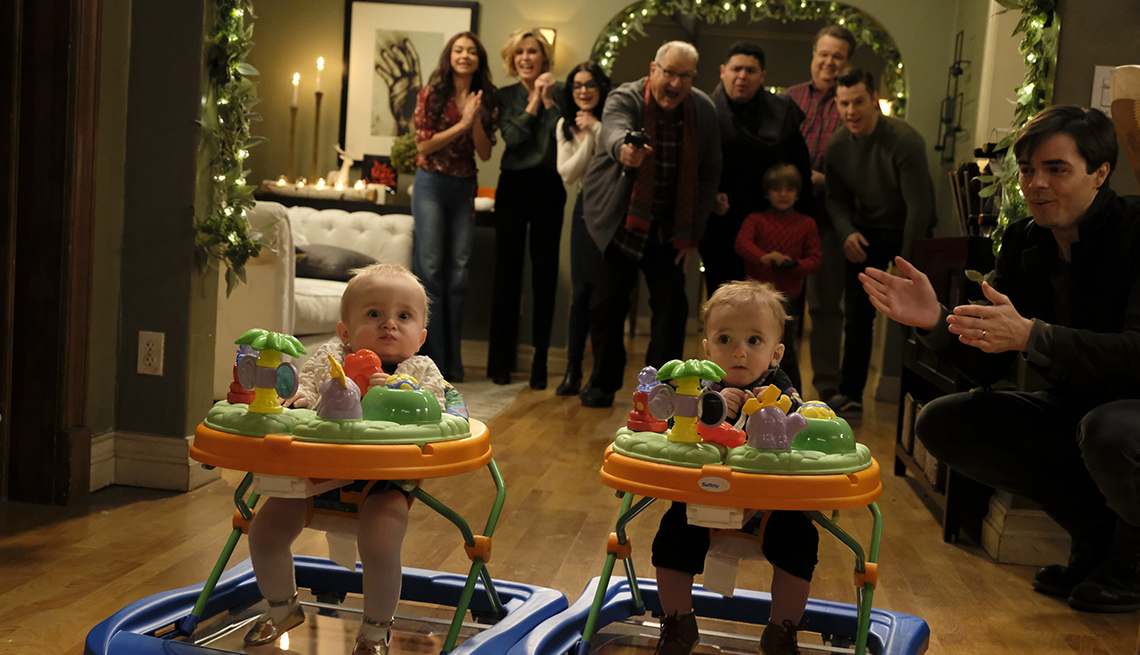 A scene from the Season 11 episode The Last Christmas for the A B C show Modern Family