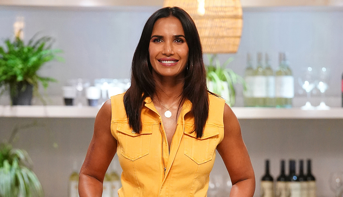 Padma Lakshmi en el set de Top Chef