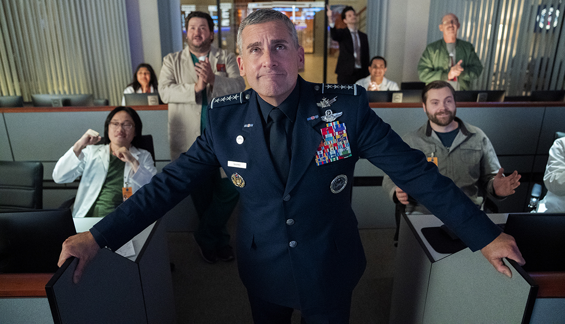 Steve Carell stars in the Netflix comedy series Space Force