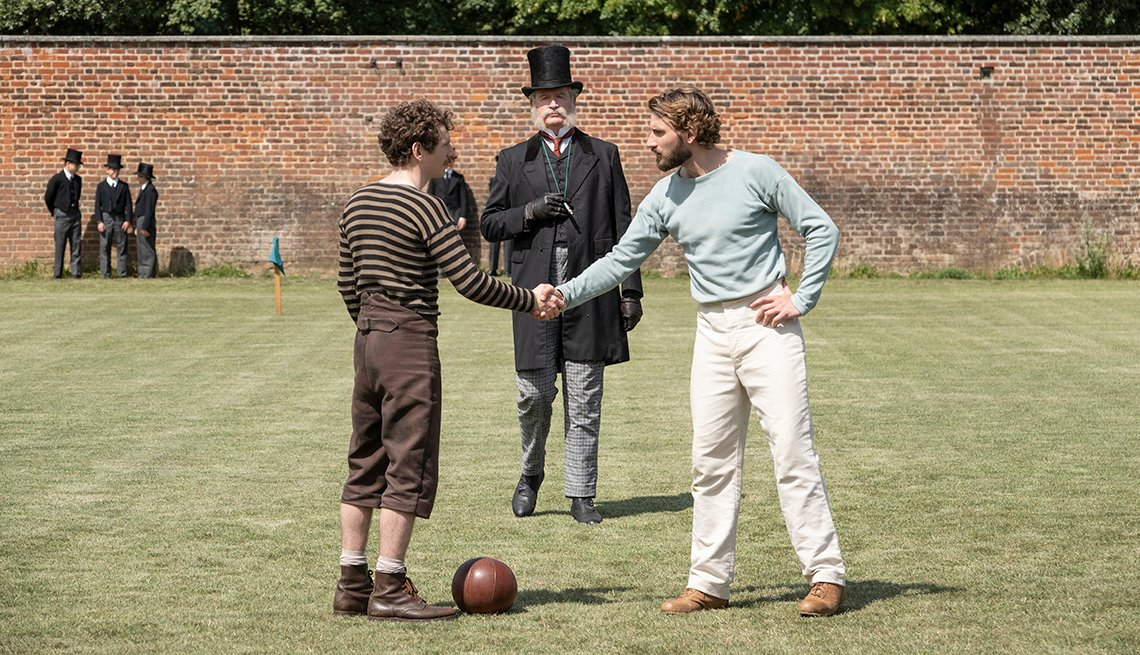 Gerard Kearns and Edward Holcroft in the Netflix show The English Game