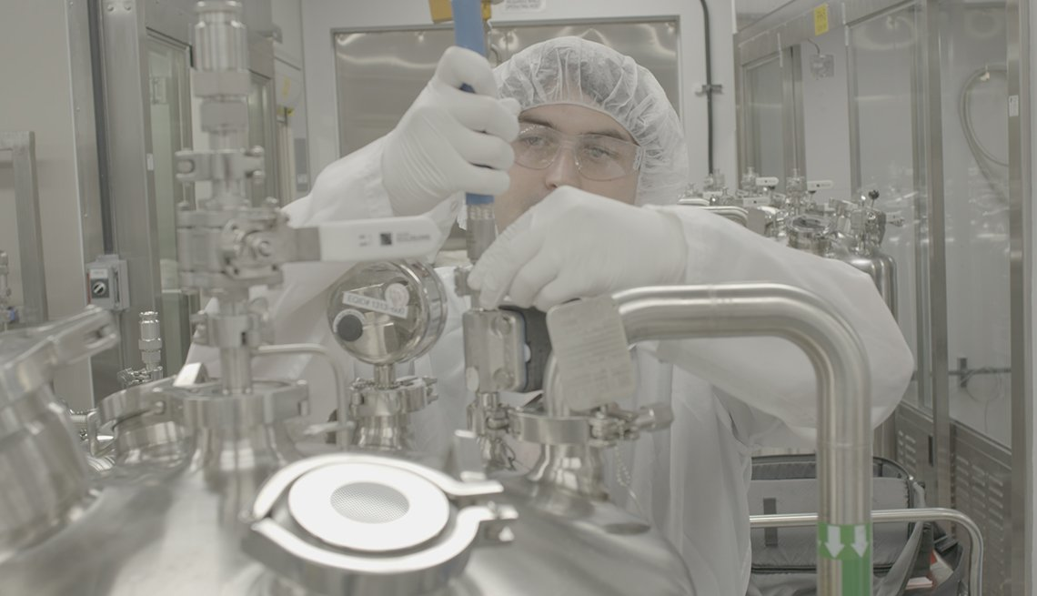 Laboratorio de producción de una terapia genética.