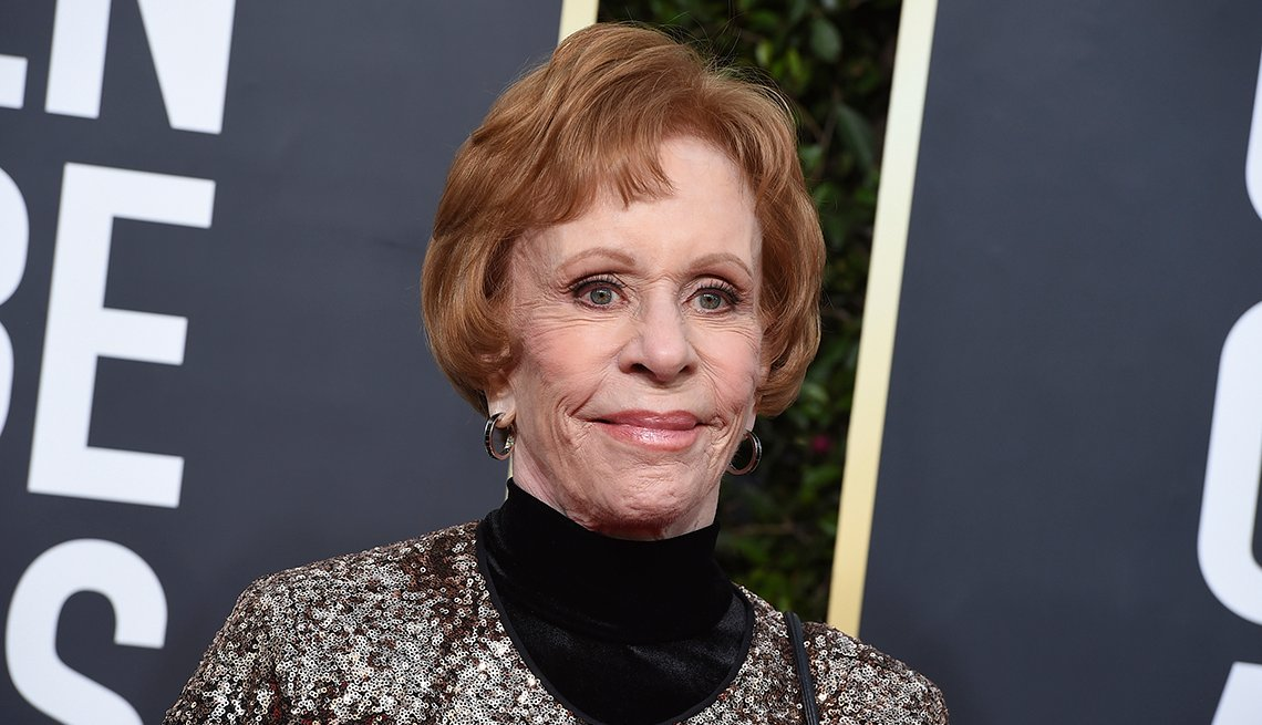Carol Burnett on the red carpet at the 77th Annual Golden Globe Awards