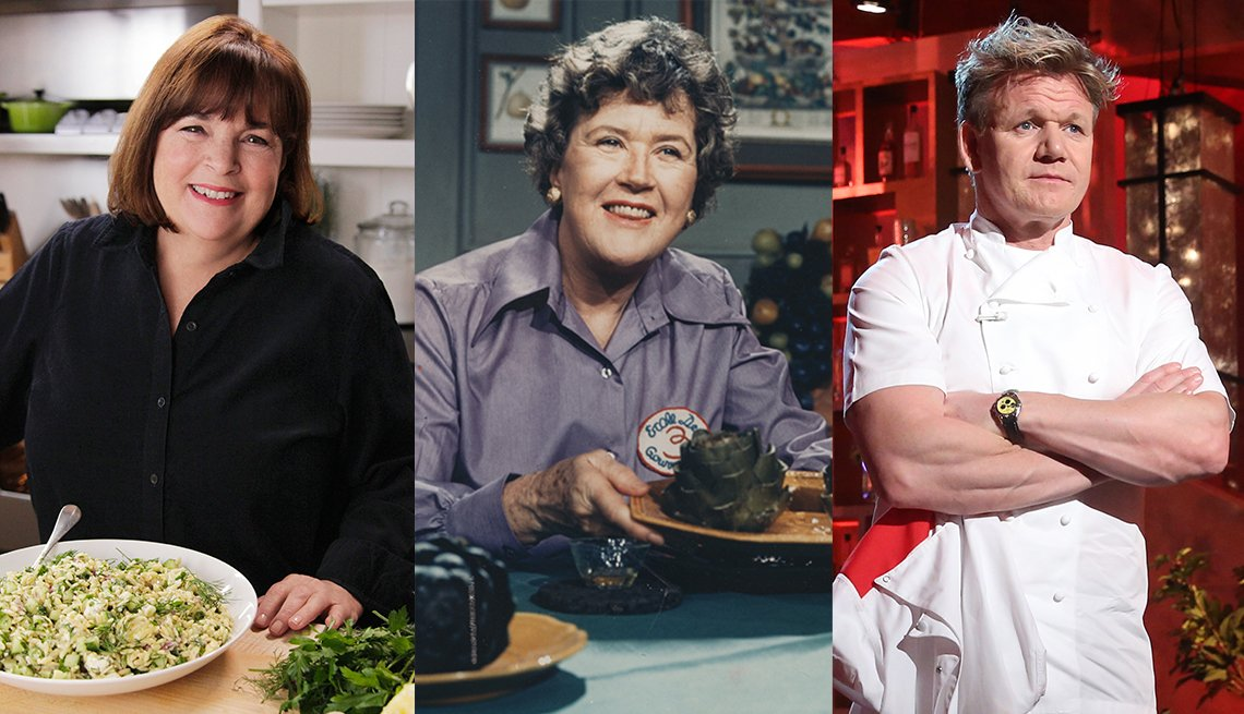 Ina Garten Julia Child y Gordon Ramsay
