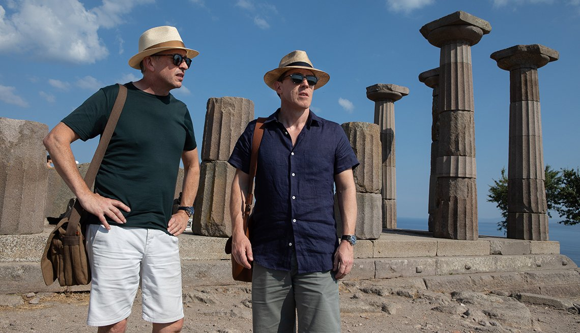 Steve Coogan y Rob Brydon en una escena de The Trip to Greece