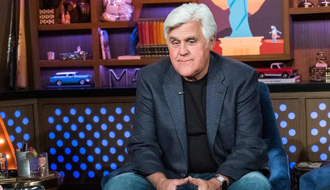 Jay Leno sitting down