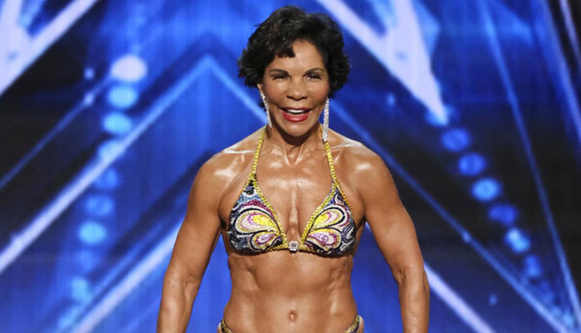 "Fisiculturista Josefina Monasterio en ""America's Got Talent""."