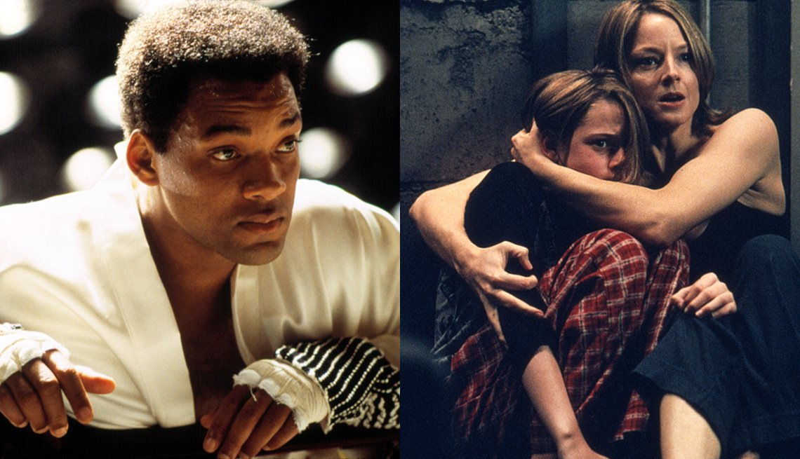 Will Smith stars in Ali and Jodie Foster and Kristen Stewart in Panic Room