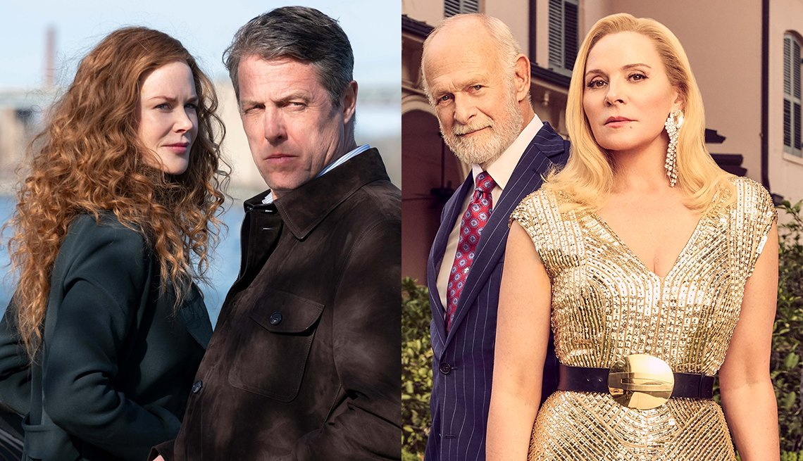 Nicole Kidman and Hugh Grant in The Undoing and Gerald McRaney and Kim Cattrall in Filthy Rich