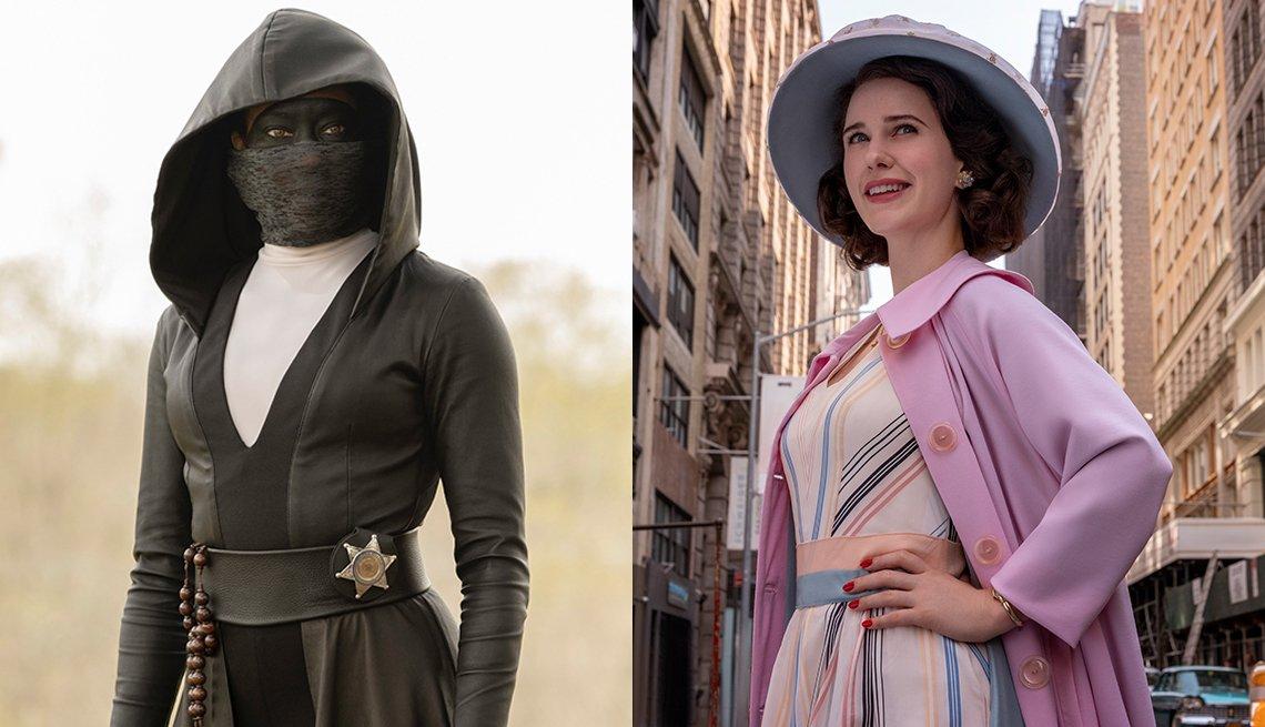 Regina Kings stars in Watchmen and Rachel Brosnahan in The Marvelous Mrs. Maisel