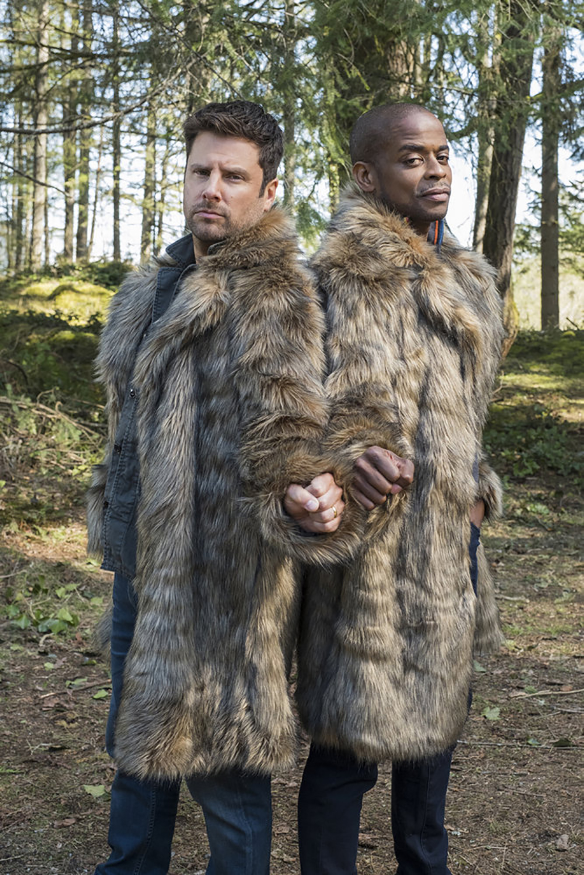 James Roday and Dule Hill in Psych 2 Lassie Come Home