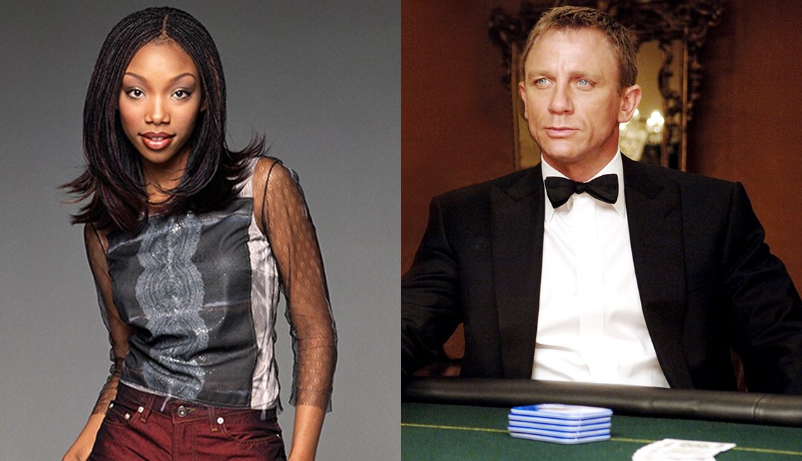 Brandy Norwood in Moesha and Daniel Craig in Casino Royale