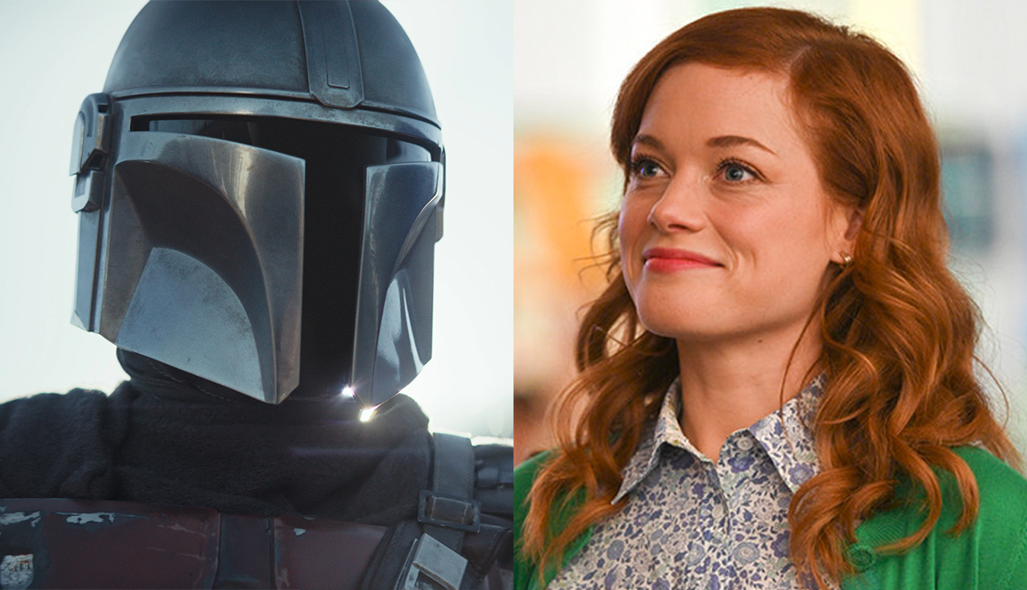 Pedro Pascal in the Disney Plus series The Mandalorian and Jane Levy in the NBC show Zoeys Extraordinary Playlist