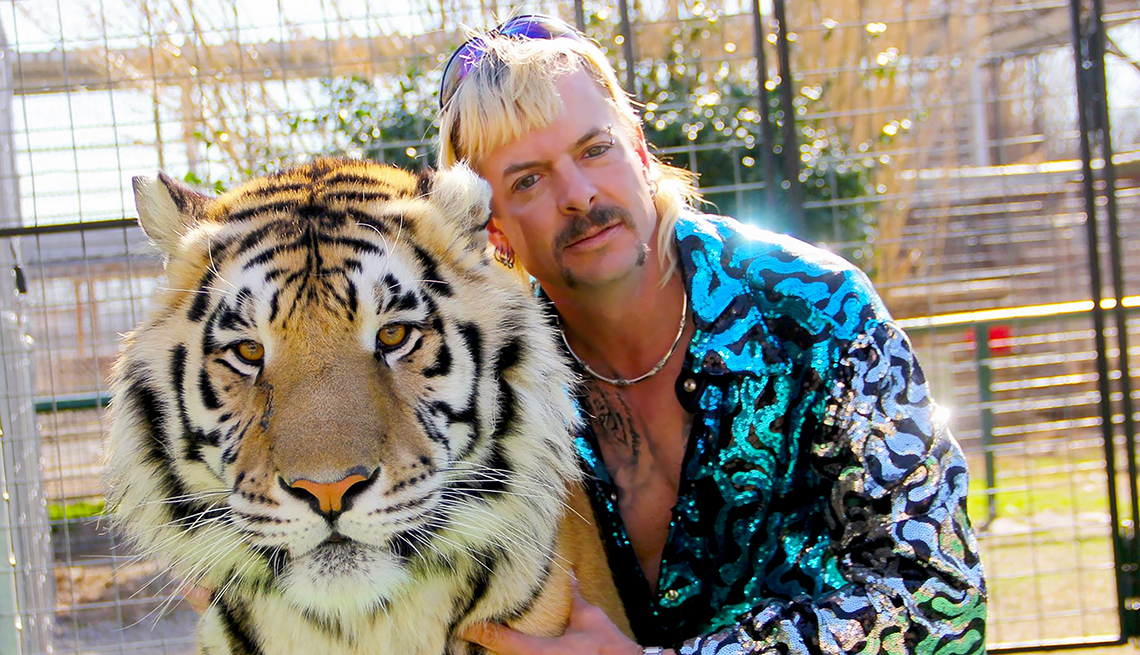 A production still from Tiger King