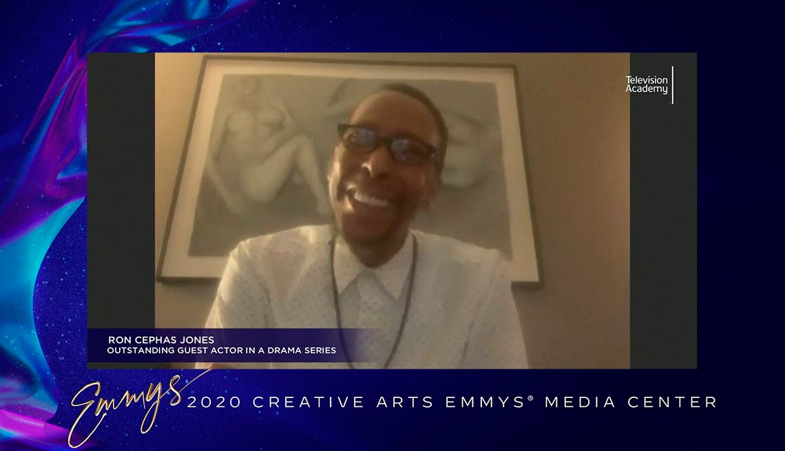 "Ron Cephas Jones speaks after receiving the Emmy Award for Outstanding Guest Actor In A Drama Series for his performance in ""This Is Us."""