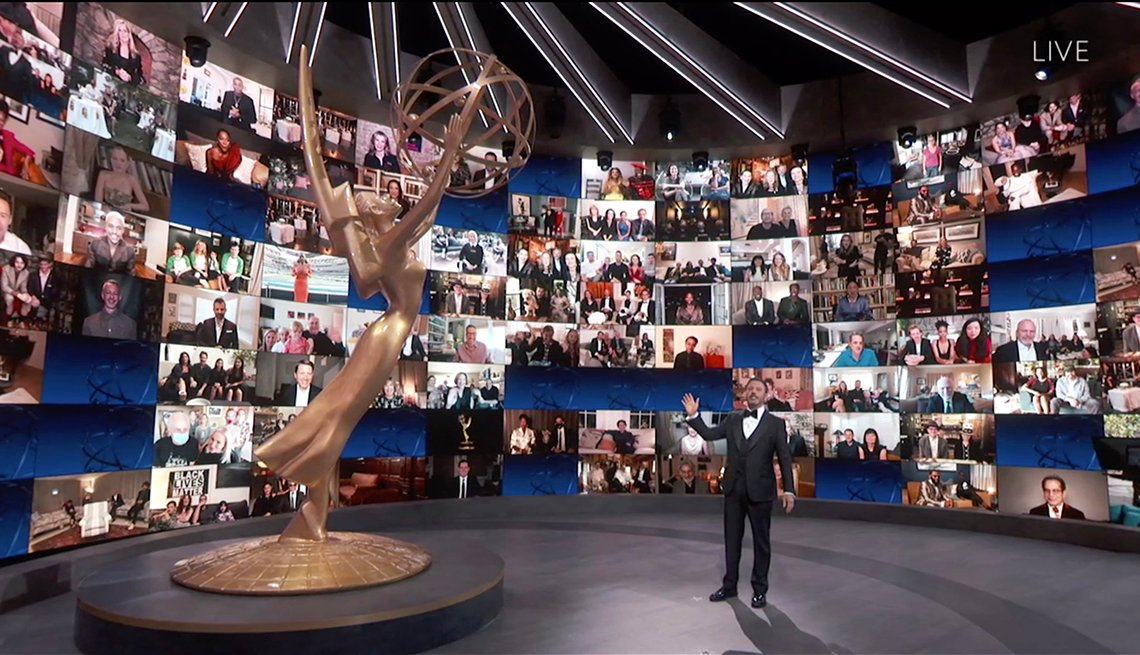 Jimmy Kimmel hosting the 72nd Emmy Awards