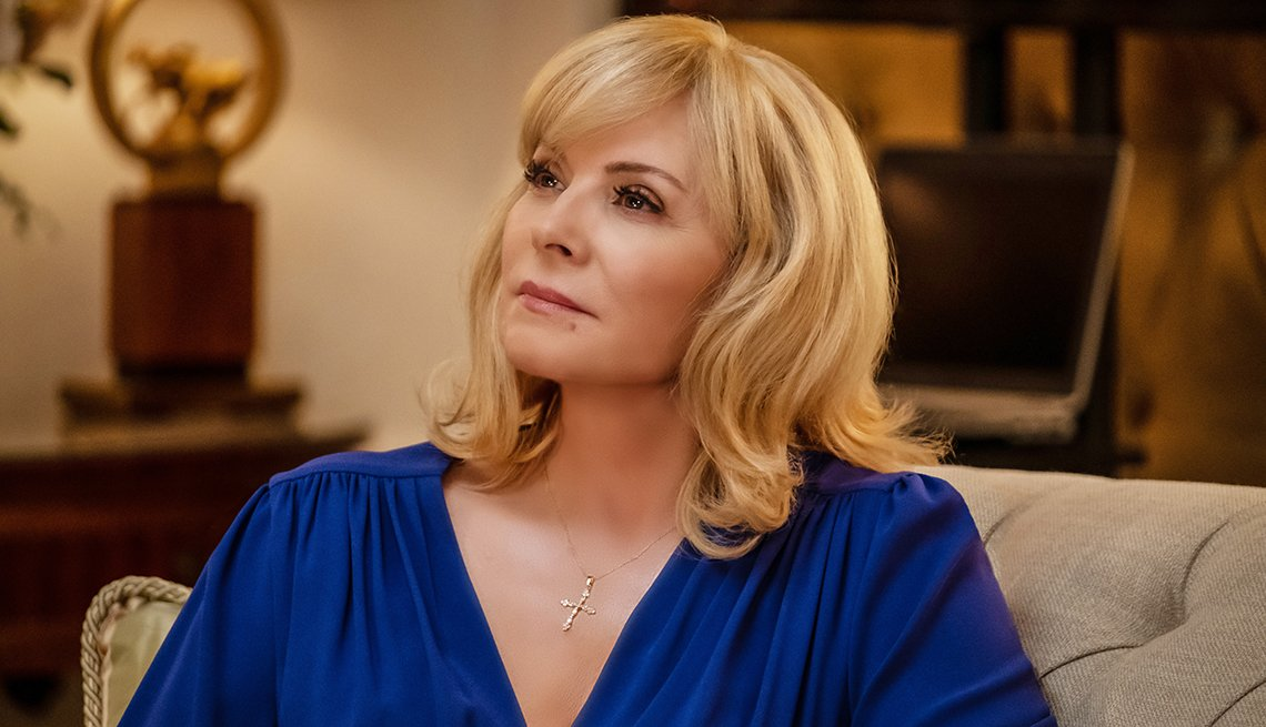 Kim Cattrall in a scene from the Fox television show Filthy Rich