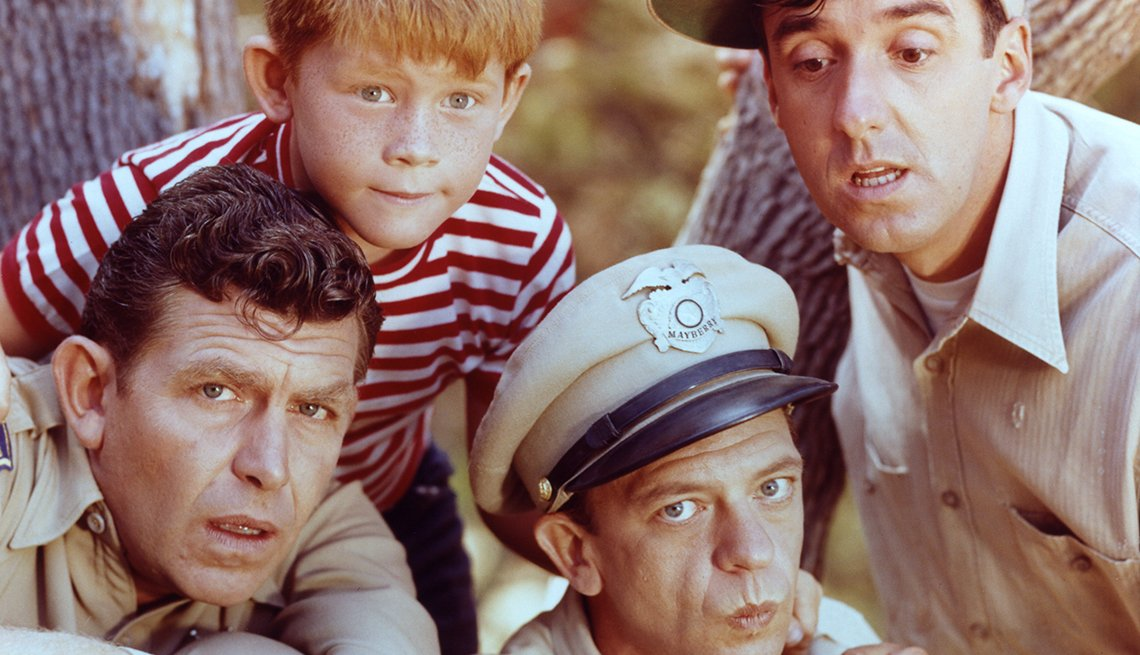 Andy Griffith, Ron Howard, Don Knotts and Jim Nabors in The Andy Griffith Show