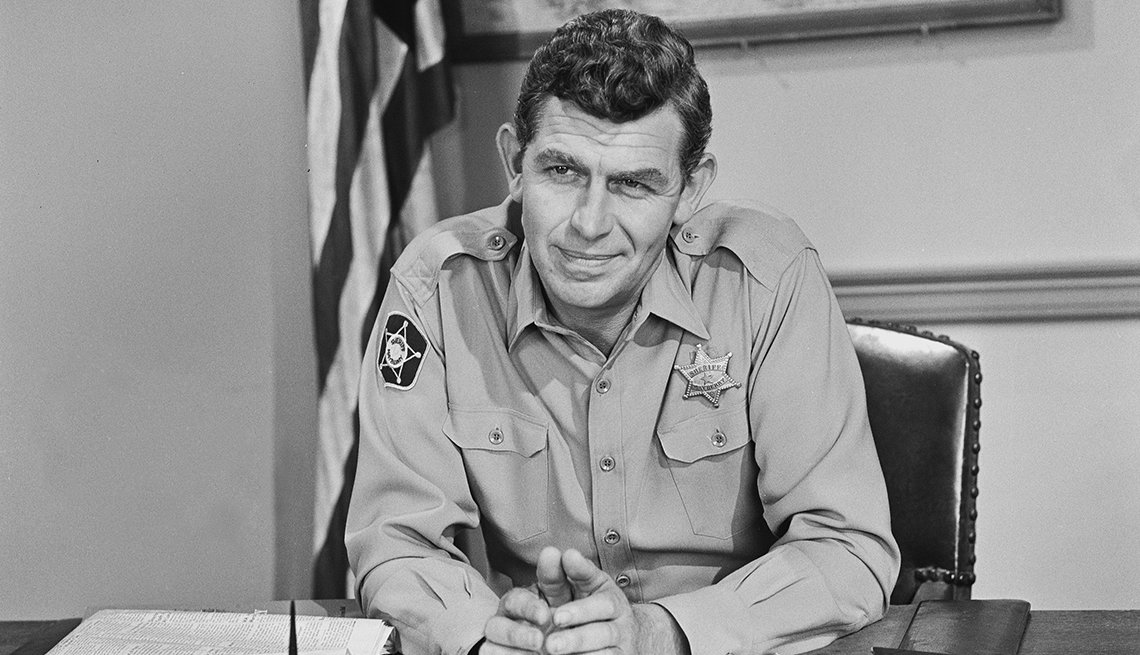 Andy Griffith as Sheriff Andy Taylor in The Andy Griffith Show