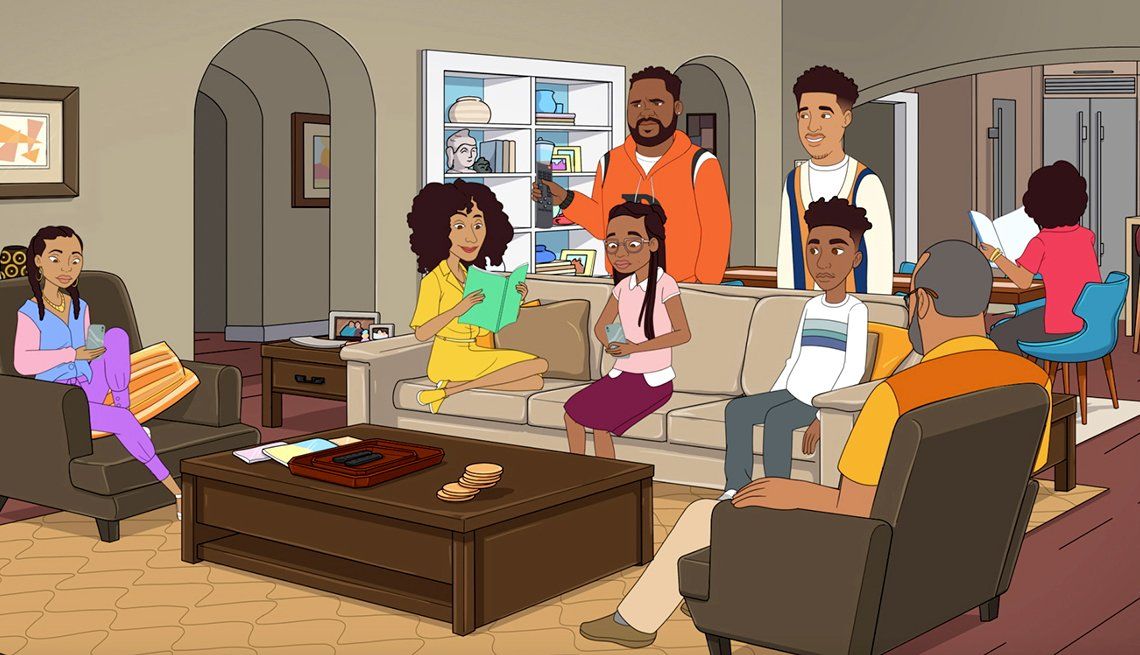 The cast of Black-ish in a special animated episode