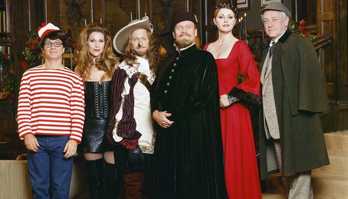 El elenco de Frasier se vistió con disfraces para el episodio de Halloween de la temporada 5 del programa.