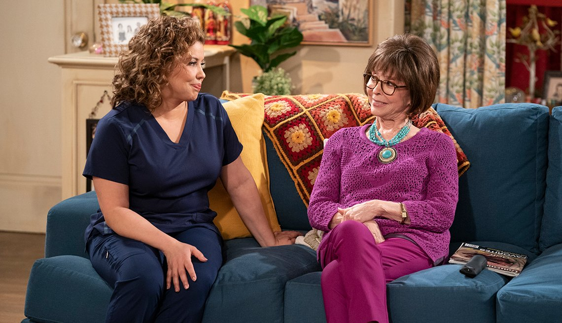 Justina Machado and Rita Moreno star in the TV show One Day at a Time