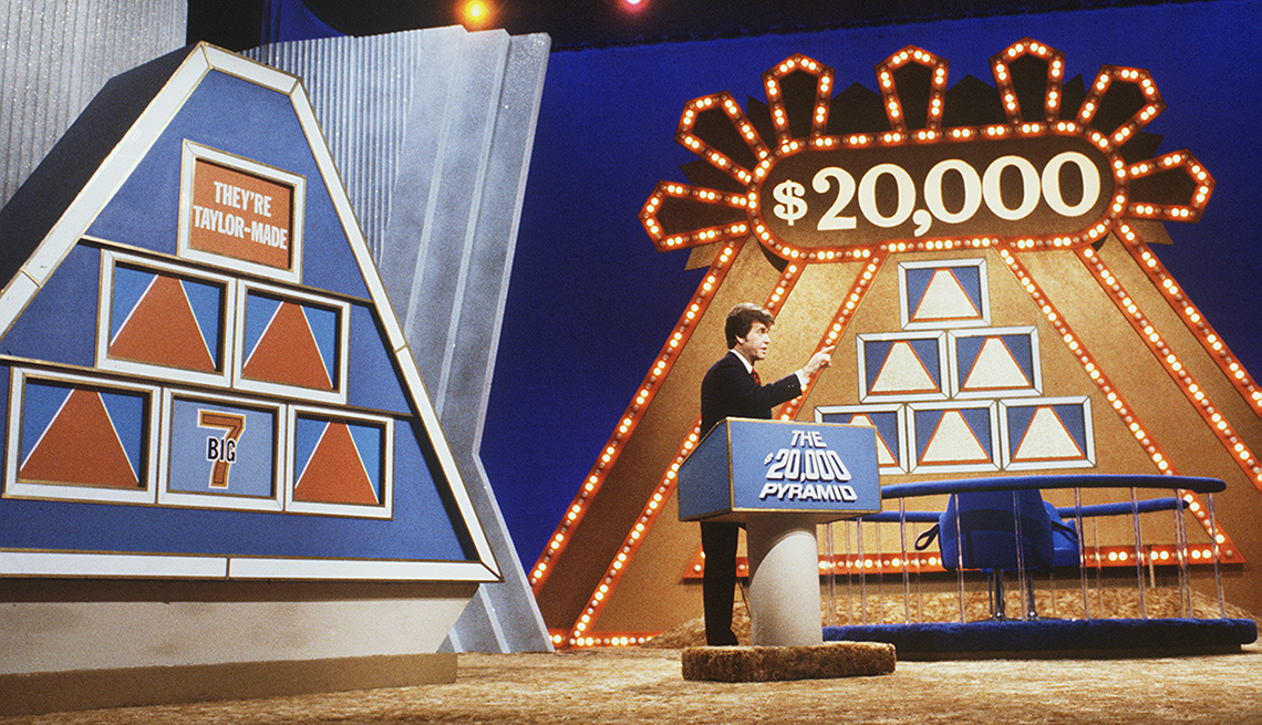 Dick Clark hosts the television game show $20,000 Pyramid