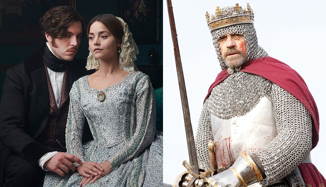 Tom Hughes and Jenna Coleman star in Victoria and Jeremy Irons plays Henry IV in The Hollow Crown