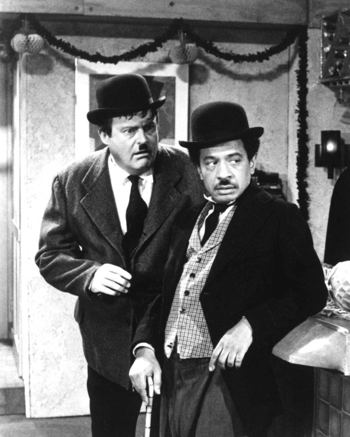 Franklin Cover y Sherman Hemsley en el programa de televisión The Jeffersons.