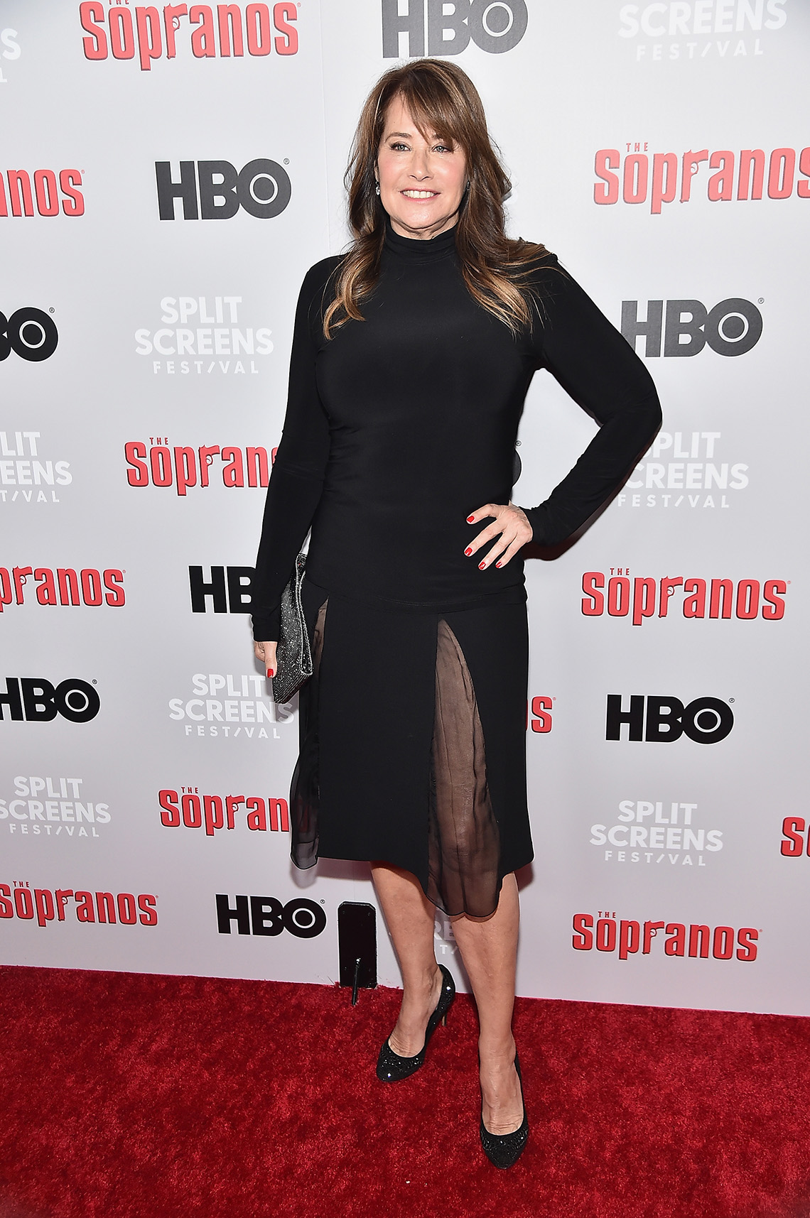 Actress Lorraine Bracco on the red carpet for The Sopranos 20th Anniversary Panel Discussion
