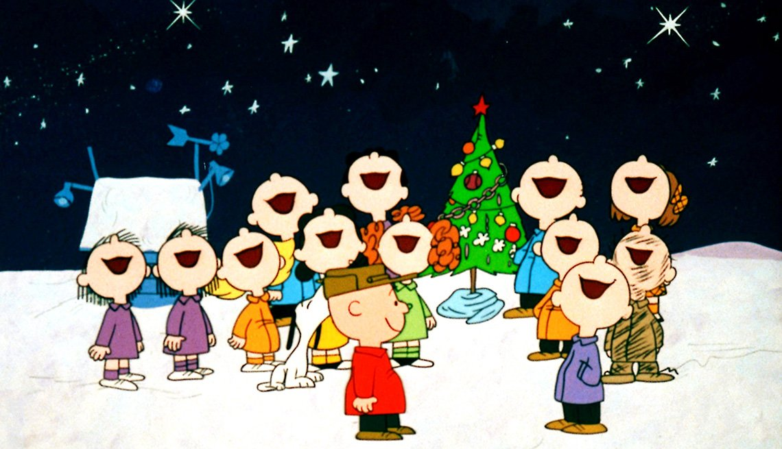 A scene from A Charlie Brown Christmas