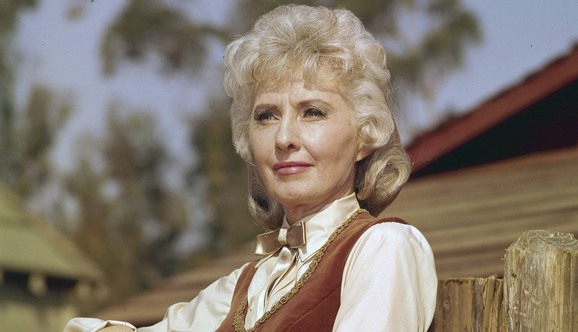 Barbara Stanwyck as Victoria Barkley in the TV show The Big Valley