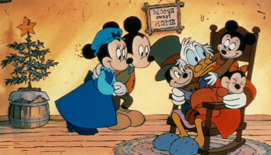 A scene from Mickey's Christmas Carol