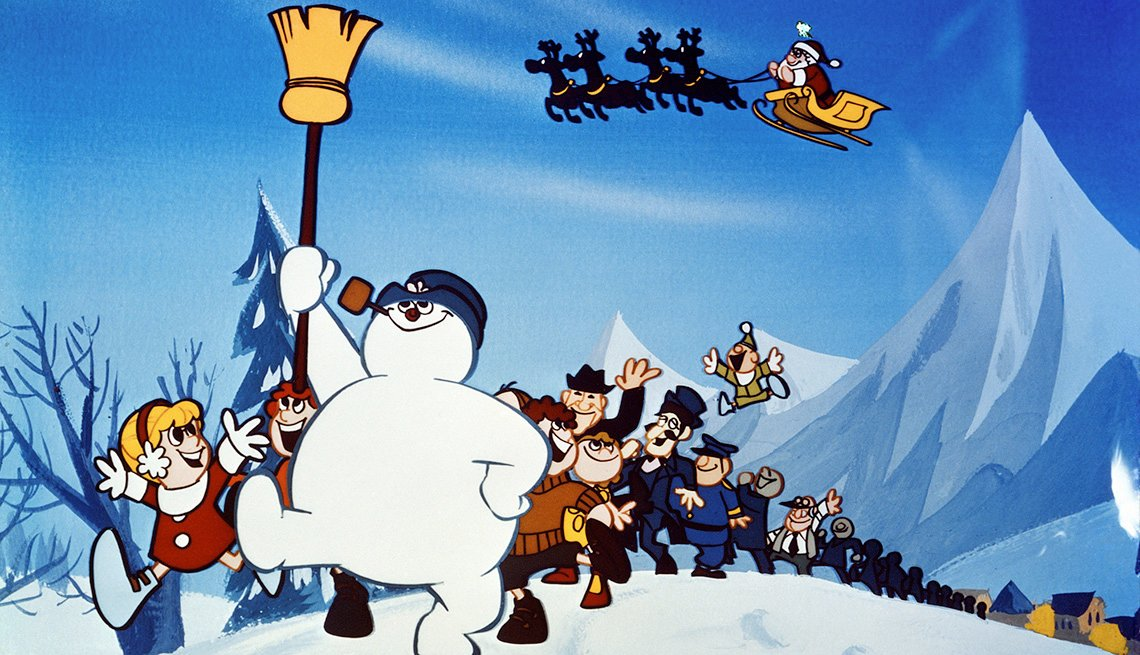 A scene from Frosty the Snowman