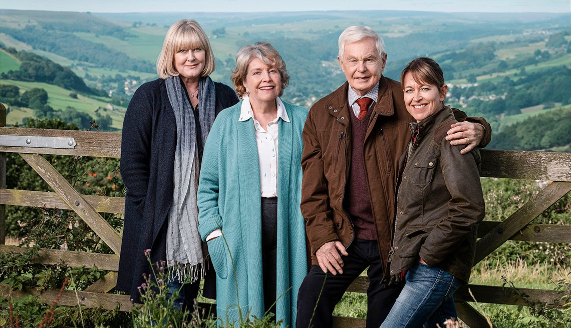 Sarah Lancashire, Anne Reid, Derek Jacobi y Nicola Walker protagonizan el show de televisión Last Tango in Halifax