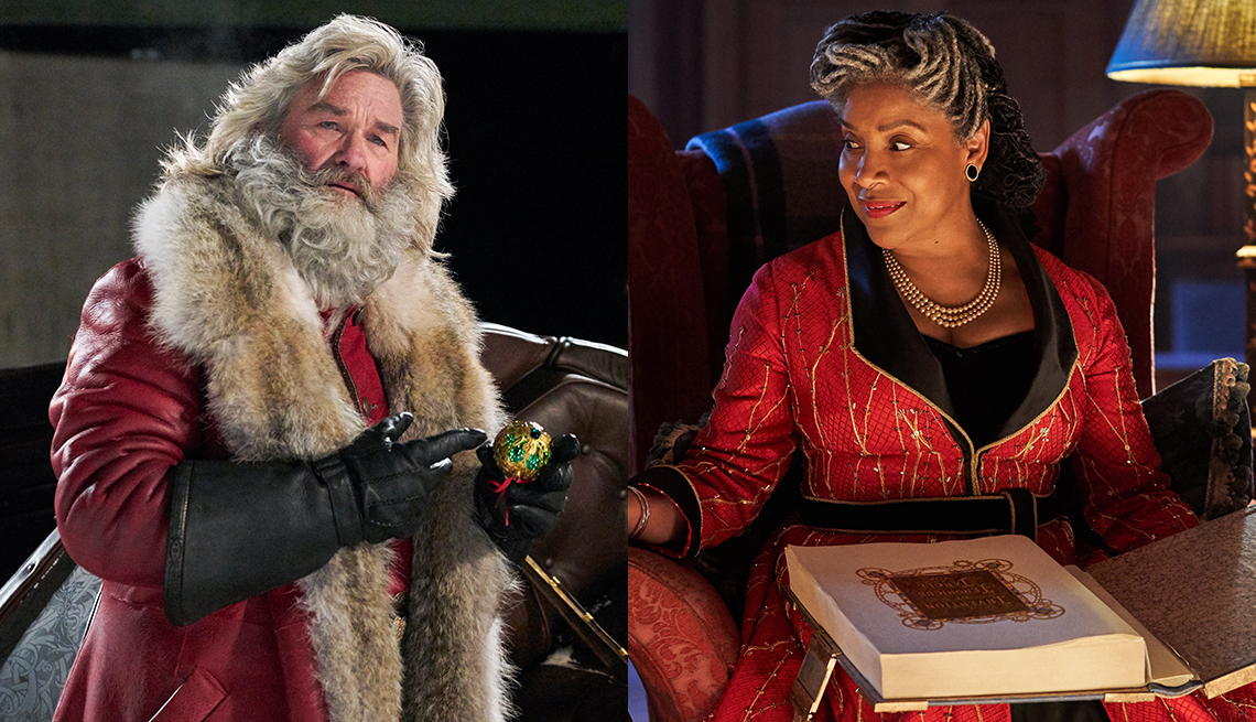 Kurt Russell starring in The Christmas Chronicles and Phylicia Rashad in Jingle Jangle: A Christmas Journey