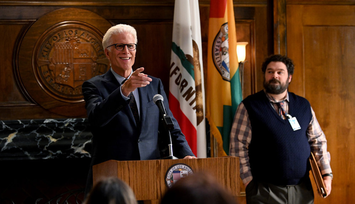 Ted Danson and Bobby Moynihan star in the TV show Mr. Mayor