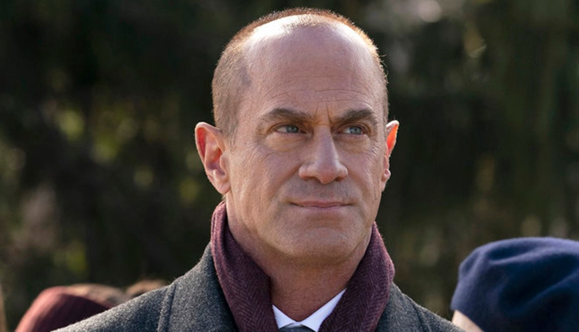 "Christopher Meloni en su rol como el detective Elliot Stabler en ""Law and Order: Organized Crime""."
