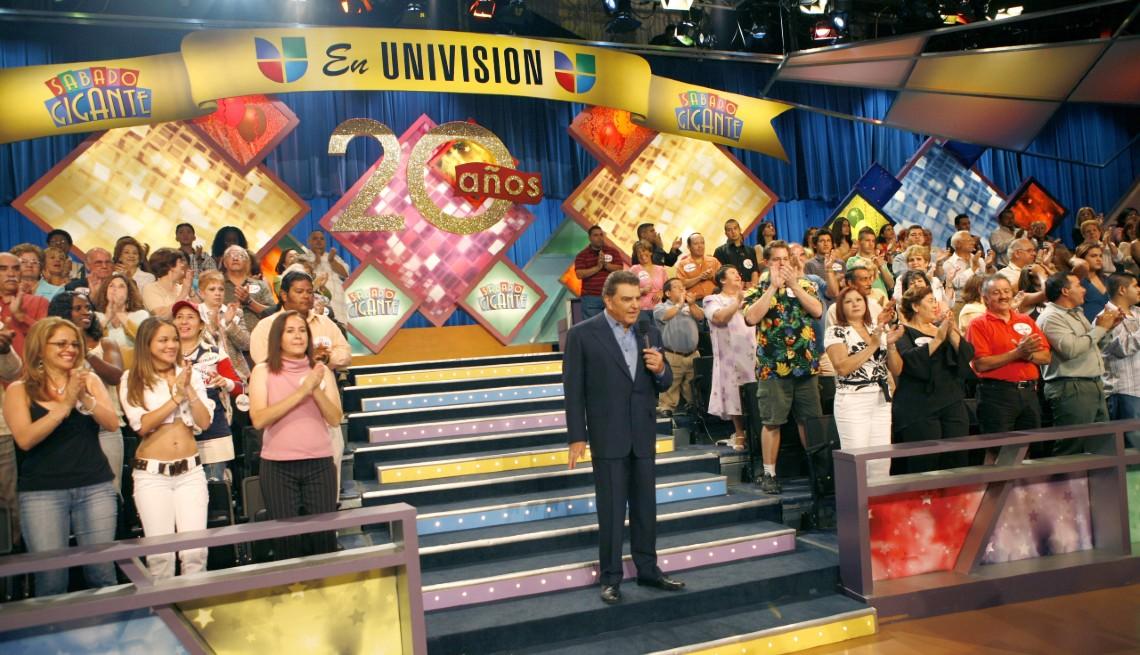 Don Francisco durante el programa del 20 aniversario de Sábado Gigante.