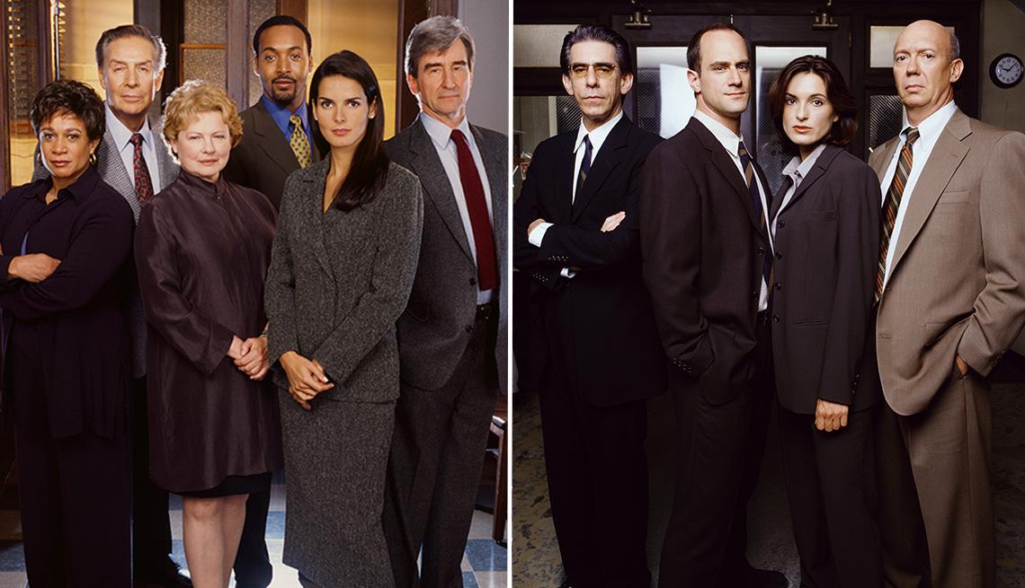 Los miembros del elenco de Law and Order and Law y Order Special Victims Unit.