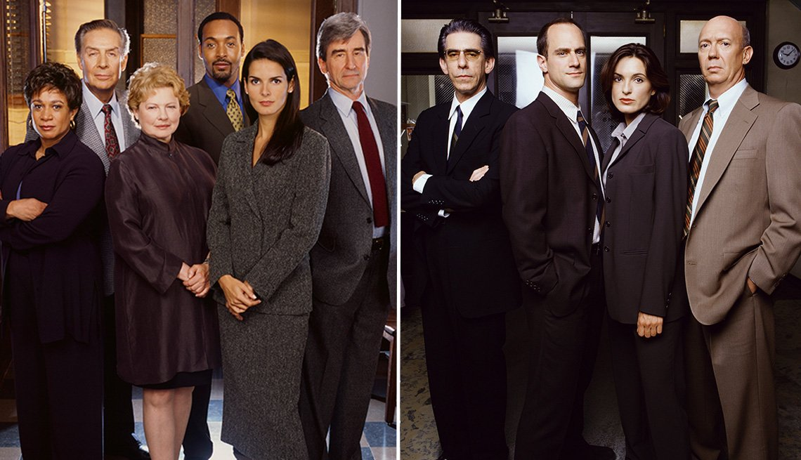 Los miembros del elenco de Law and Order and Law y Order Special Victims Unit.