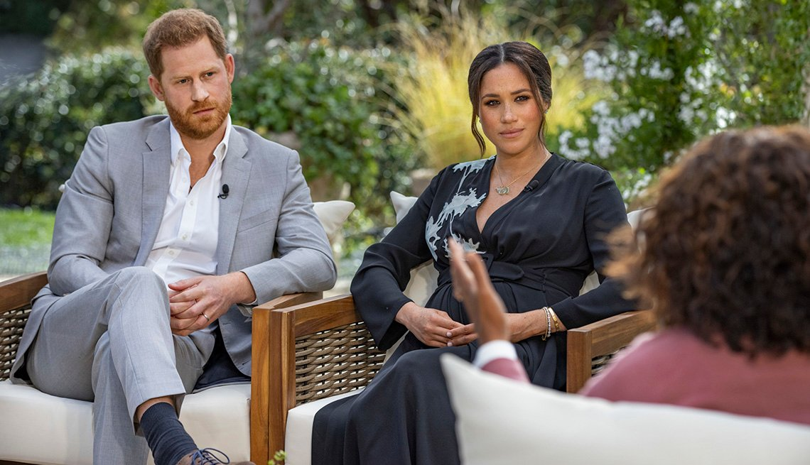 Prince Harry and Meghan sit down with Oprah Winfrey for a CBS primetime special