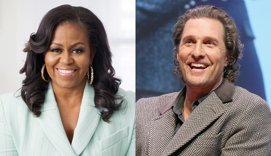 Michelle Obama and Matthew McConaughey
