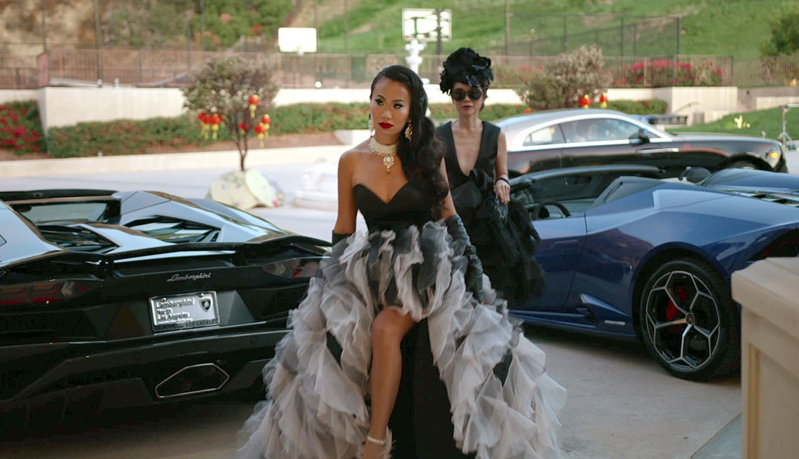 A scene from the Netflix series Bling Empire