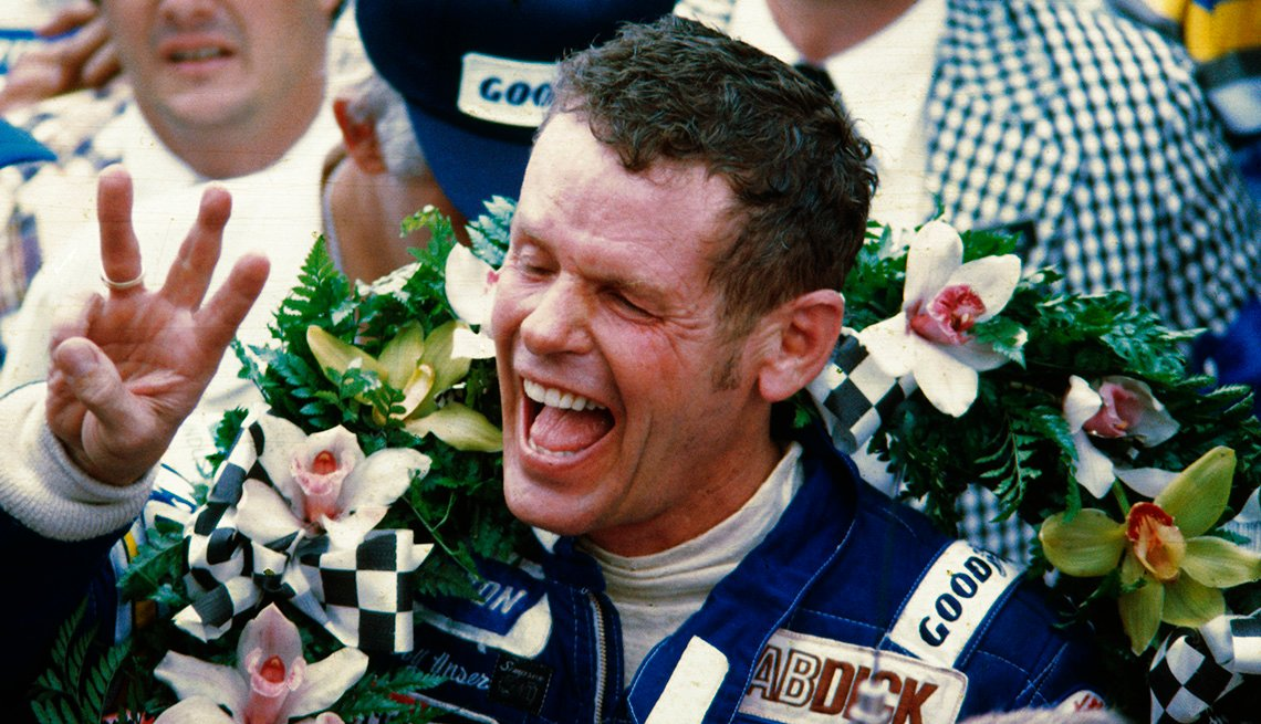 Race car driver Bobby Unser