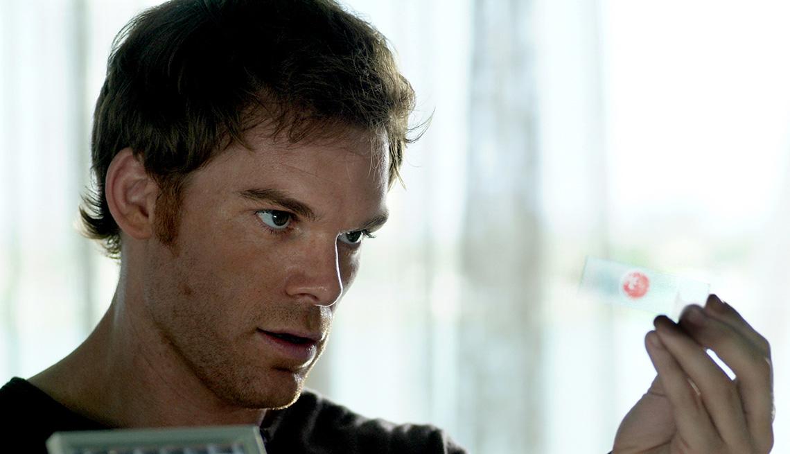 "Michael C. Hall como Dexter Morgan en ""Dexter""."